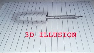 easy 3d drawing using only pencil - TH-Clip
