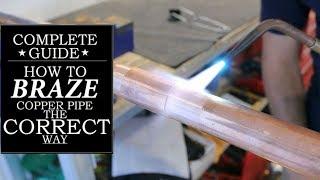 How Silver Solder (braze) A Copper Pipe (ac Line Repair) | GOT2LEARN