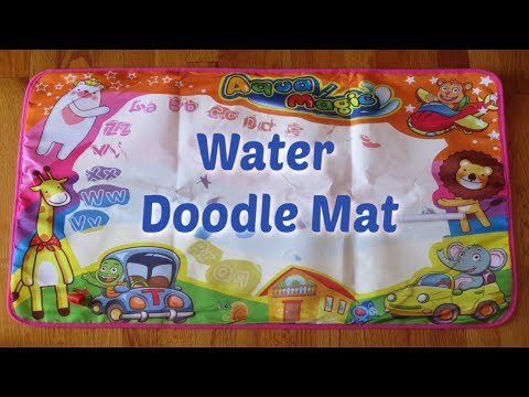 Kid's Water Doodle Mat - Review & Demo!
