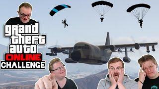 Challenge: Mit dem FALLSCHIRM auf dem FLUGZEUG landen 🎮 Grand Theft Auto Online #205