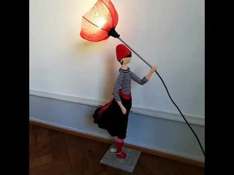 Skitso Stehlampe Design Leuchte Figurenlampe Stehleuchte Deckenfluter Puppe Lampenschirm Lampe