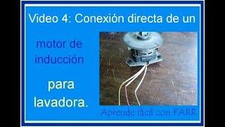 Como conectar directo un Motor de lavadora.  Motor de 3 cables con capacitor de marcha.