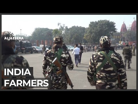 More than 200 detained over farmers' protests in New Delhi