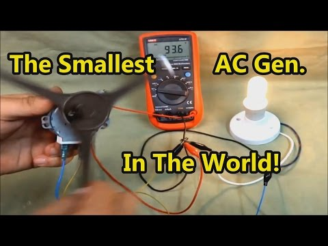 Download The Smallest AC Generator In The World! Mp4 HD Video and MP3