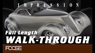 Foose Design Hand Built Roadster Impression Full Length Walkthrough