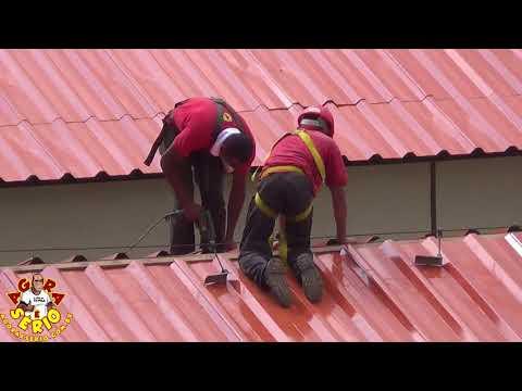Troca do telhado do HGIS