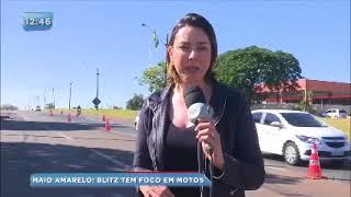 Maio Amarelo: CMTU intensifica as ações com foco em motociclistas