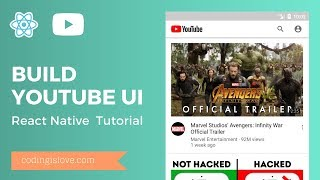 React Native Tutorial (Only UI) - Building Youtube UI in 30 Mins