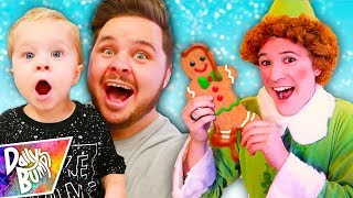 Decorating Giant Gingerbread Cookies! ✨ (W/ Buddy the ELF!!!)