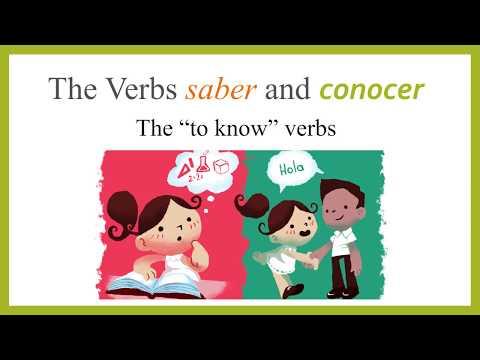 La diferencia entre 'Saber' y 'Conocer' Para practicar: https://conjuguemos.com/grammar/homework/234