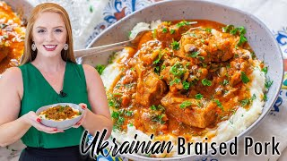 Ukrainian Braised Pork with Creamy Mashed Potatoes by Tatyana's Everyday Food