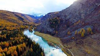 Река Чуя. Заброшенная Чуйская (Акташская) ГЭС глазами дрона.