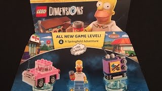 The Simpsons Level Pack Lego Dimensions Unboxing & Building