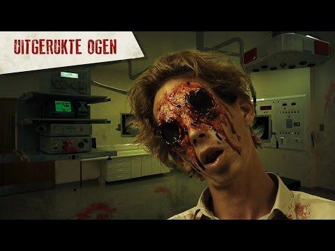 Griezelige ingedrukte ogen schmink tutorial Halloween