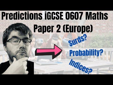 Predictions iGCSE International Mathematics 0607 Paper 2
