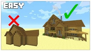 Easy Tips To Build Better In Minecraft Survival House Tutorial 2016 Tu35 Minecraftvideos Tv