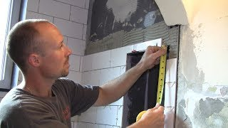 How to Tile a Bathroom 36: Complex Tile Cuts