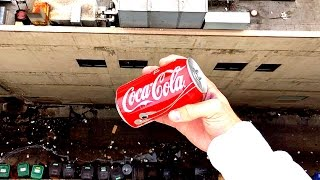 What Happens When Soda Can Dropped From 100FT!??!! WillitBREAK?