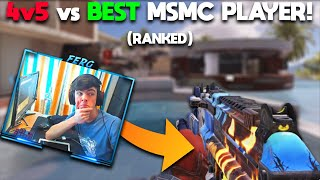 4V5 AGAINST BEST MSMC PLAYER in COD Mobile ( Legendary Ranked )