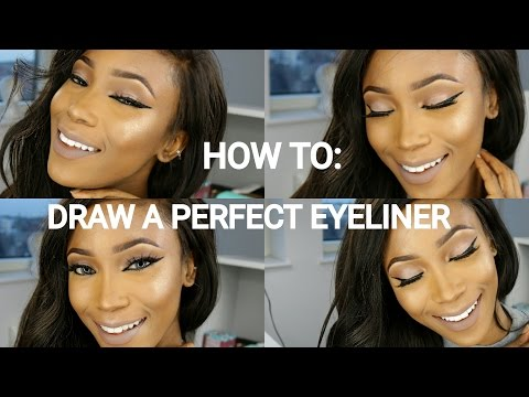 HOW TO DRAW A PERFECT WINGED EYELINER// USING GEL AND LIQUID LINER //EYELINER TUTORIAL FOR BEGINNERS