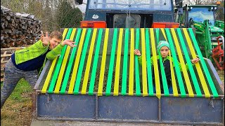 Liam and Kids Play Magic Hide and Seek with Colored Tractor