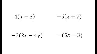 Introduction To The Distributive Property (Variables)