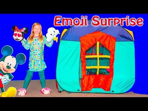 ASSISTANT Disney Emoji Blitz Surprise Pillows PJ Masks + Nerf Video