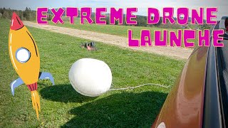 EXTREME Fpv drone launch with airbag!!