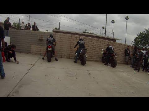 street bike burnout at motopia Motorsport in Riverside ca