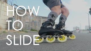 INLINE SKATING TUTORIAL - HOW TO SLIDE ON INLINE SKATES  // VLOG10