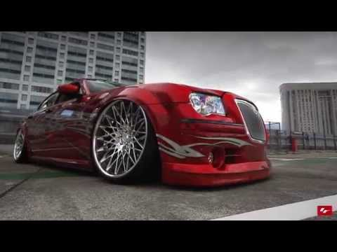 "Modified Chrysler 300c on 24"" Lexani Wheels"