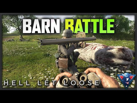 BATTLE AT THE BARN | Hell Let Loose Gameplay