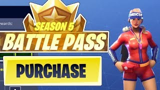 UNLOCKING SEASON 5 BATTLE PASS 100 TIERS !! - Fortnite Battle Royale