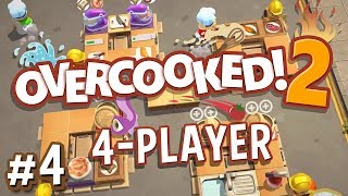 Overcooked 2 - #4 - RUSH HOUR DUMPLINGS! (4 Player Gameplay)
