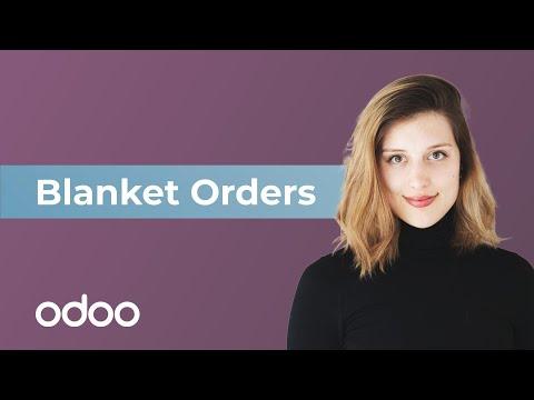 Blanket Orders | Odoo Purchase
