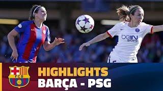 [HIGHLIGHTS] FUTBOL FEM (Champions League): FC Barcelona – PSG (1-3)