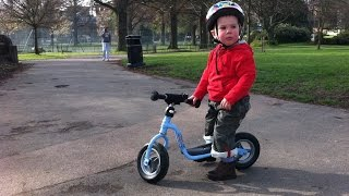 Lenny On His Puky Balance Bike 2 years Old 2011