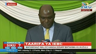 IEBC speaks after Akombe's exit - VIDEO