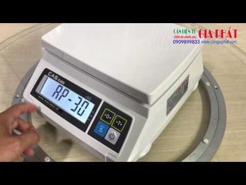 Cas SW-1A 3kg 6kg 15kg 30kg - cân điện tử Cas SW1A - hướng dẫn sử dụng - tự động tắt