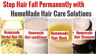 DIY Natural Hair Care Solution | HomeMade Shampoo | Conditioner |  Mask | Hair Oil | Stop Hair Fall