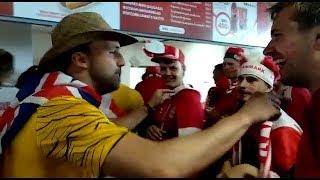 Закулисье матча Дания - Австралия (1:1)