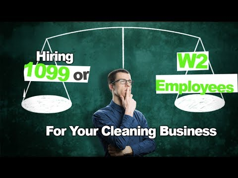 , title : 'Deciding on 1099 vs W2 Employees for Your Cleaning Business