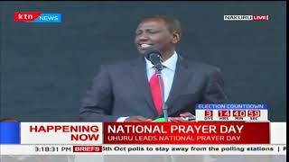 Jubilee leaders hold prayers in Nakuru ahead of the repeat presidential polls