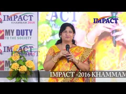 Goal|Sandya Tiwari|TELUGU IMPACT Khammam 2016