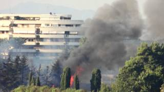 preview picture of video 'Incendio Roma Giustiniana ore18 07 Luglio 2012'