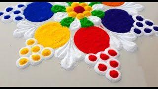 Very Simple and Easy Rangoli Designs For Diwali Festival/दिवाली की सुंदर रंगोली बनाये -
