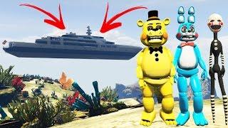 TOY ANIMATRONICS vs NO WATER MOD! (GTA 5 Mods FNAF Funny Moments)