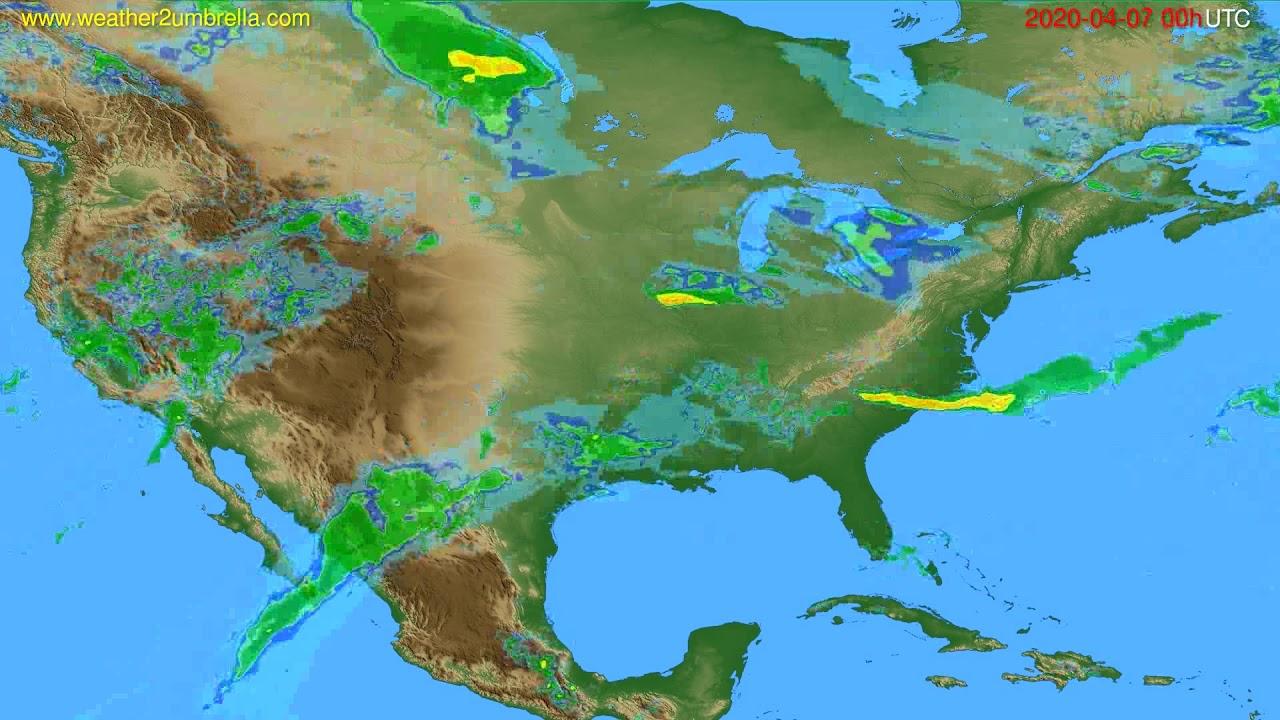 Radar forecast USA & Canada // modelrun: 12h UTC 2020-04-06