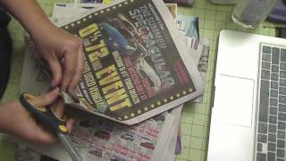 deacidifying newspaper print