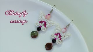 Macrame Earring Tutorial: Butterfly Earrings Tutorial | Easy, Simple | Macrame TiTa